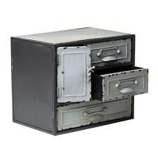 Industrial Chic in metallo piccolo cassetto armadio/armadio di stoccaggio