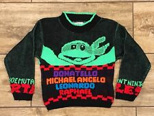 Vintage Teenage Mutant Ninja Turtles 1990 Mickey's Clan Sweater Youth Kids