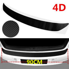 4D Premium Negro Accesorios Fibra de Carbono Coche Parachoques Trasero Protector