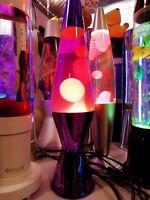 lampada Lava magma Lamp Classic Lava Lamp original altezza 36,83 CM giallo/viola