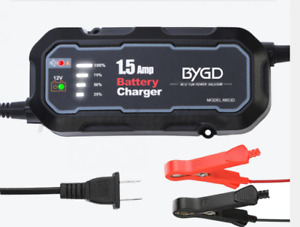 Portable 12V Auto Battery Charger Maintainer For Car Motorcycle Outdoor Ne