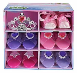 Chad Valley Pack of 5 Glamour Princess & Ballerina Shoes with Tiara