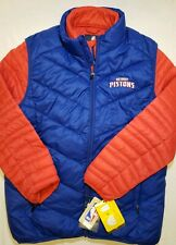 Detroit Pistons 3-in-1 Systems Puffer Jacket Coat Vest Combo Youth Large  Embroi