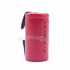 1 pc SubC Sub C 3400mAh 1.2V NiMH Rechargeable Battery w/ Tab For RC Toy Red