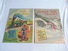 AMERICAN RAILROADS COMIC BOOKS  CLEAR THE TRACK & ALL ABOARD MR LINCOLN TRAINS