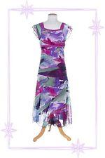 Robe Fantaisie à Bretelles Violet / Bleu .. Imprimé Lewinger Taille 1 - 36