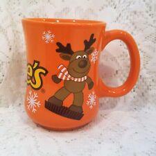 Reese's Holiday Christmas Reindeer Snowflakes Orange 10 Oz Ceramic Mug