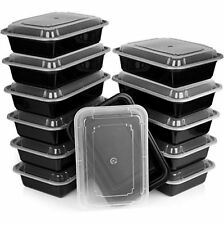 Heim Concept Premium Meal Prep Food Containers w/ Lid 3 Compartment Reusable ...
