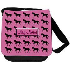 PERSONALISED HORSE HORSES PRINT KIDS SMALL SHOULDER SCHOOL / HANDBAG /GAME BAG