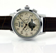 INGERSOLL GERMAN DESIGN AUTOMATIC DAY-DATE-MONTH-YEAR 45mm LEATHER IN4411CR