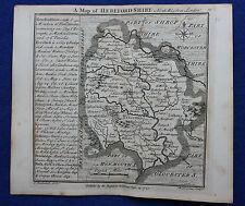 Original antique copper-engraved map HEREFORDSHIRE, Badeslade & Toms, 1742