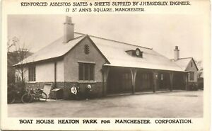 Manchester. Boat House, Heaton Park. Asbestos Supplied by J.H.Bardsley. Advert.