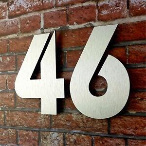 HOCHWERTIGE Hausnummer Zahlen Ziffer Türnummer Hausnummern Hausnr Edelstahl Set