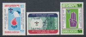 Bangladesh - 1978, 1st National Scout Jamboree set - MNH - SG 107/9