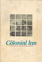 Vintage THE COLONIAL INN Restaurant Menu Concord Massachusetts 1976