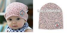 BNWT Baby Girl Pink Leopard Cotton CAP Beanie HAT Fits 0-18 Months