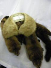 Vintage Clothing Mink Fur Shoulder / Collar Stole Wrap / Scarf & Pelt