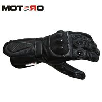 MOTERO Mens Motorcycle Motorbike Italian TPU Protection Quality Leather Gloves