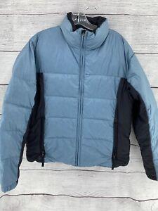 Burton Lava III Puffer Down Snowboard Jacket Women's Size Medium Ice Blue