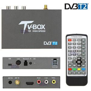 In Car High Speed DVB-T2 DVB-T TV Tuner Freeview Receiver Box H.264 HDMI USB PVR