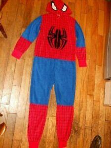 MARVEL SPIDERMAN Fancy Dress All-In-One Fleece Suit  Size XS 32-34chest