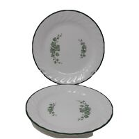 "Corelle Corning Callaway Green Ivy 7"" Salad/Dessert Plates Set of 2"