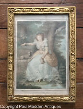Antique print of Mrs. FitzHerbert in a French Frame