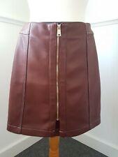 Ladies River Island faux Leather mini Skirt Size 8