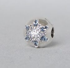 Authentic Pandora Crystalized Snowflake Clip/Charm/Bead Silver 925 ALE 791997NMB