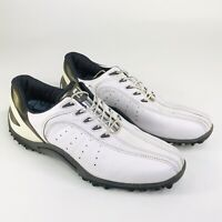 Footjoy FJ Sport Mens Size 11.5 M White Leather Spikeless Golf Shoes 53111