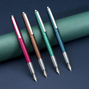 HongDian 525 Stainless Steel Fountain Pen, Extra Fine/ Bent Nib Gift Writing Pen
