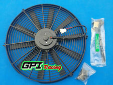 """universal electric fan for 16"""" 12V Slim Radiator Cooling Thermo Fan&Mounting"""