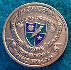 1990-91 Army 1st Battalion 75th Ranger Regiment 1/75 Bronze 38mm Challenge Coin