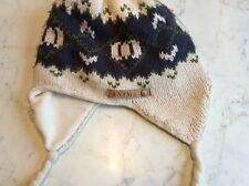 Child's Patterned Knitted Beanie  - One Size