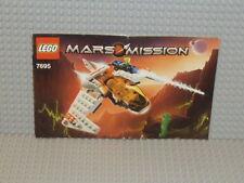 LEGO® Mars Mission Bauanleitung 7695 MX-11 Astro Fighter ungelocht B973