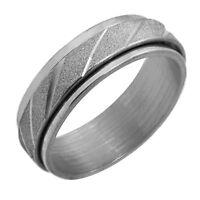 1 Ring Fingerring Damen Herren Silbern Edelstahl 17 - 22mm Doppelring Glänzend