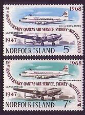 Aviation Mint Never Hinged/MNH Norfolk Islander Stamps