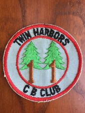 "Vintage Twin Harbors CB Radio Club 4"" Embroidered Patch"