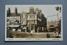 R&L Postcard: Northgate Wakefield Showing Boots Chemist Shop Tram Policeman 1923