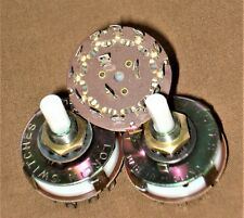 3 off 3 pole 4 way Rotary Switches Lorlin NOS