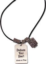 Attack On Titan Garrison Emblème Boîte Cadeau Dedicate Votre Cœur Animé Collier