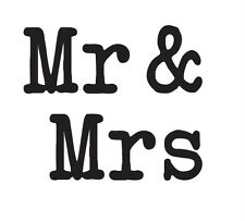 Rubber Stamps Party Wedding Name Tags Mr & Mrs