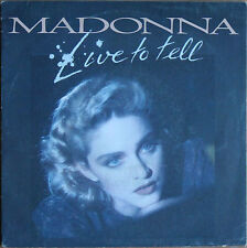 """MADONNA """"LIVE TO TELL""""   45T 2 TITRES"""