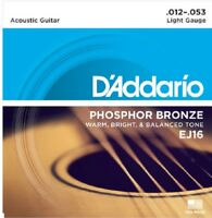 D'Addario EJ16 Phosphor Bronze Light Acoustic Guitar Strings EJ16