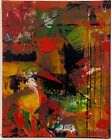 abstract expressionist acrylic 8x10 canvas original painting