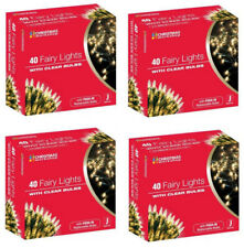 4x & Qty Choice 40 Christmas Fairy Lights Multicolored / Warm White UK Plug-in
