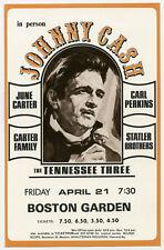JOHNNY CASH June Cater CARL PERKINS Original 1972 Boston Concert Handbill