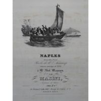 MASINI F. Naples Singer Piano ca1830 partition sheet music score