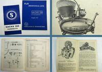 F&S Sachs 150 Motor mit 4-Gang-Getriebe Bedienungsanleitung Ersatzteilliste 1951
