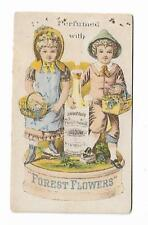 Trade Card Austens Forest Flowers Cologne Perfume Austen Oswego Sold By Druggist